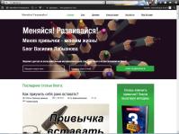 Корриктировка блога по индивидуальному заказу