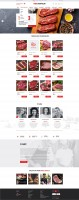 Дизайн интернет-магазина мяса, продуктов питания.