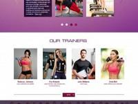 Сайт для тренажерного зала или фитнес клуба