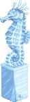 Ледяной морской конёк. Элемент браузерной игры.