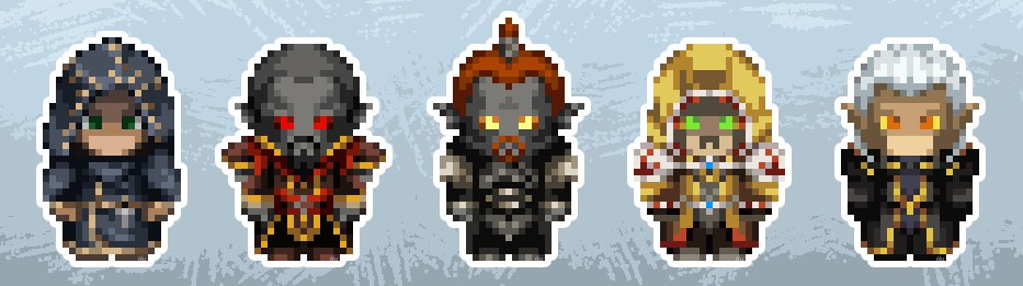 """Пикселизированные персонажи игры """"Скайрим"""""""