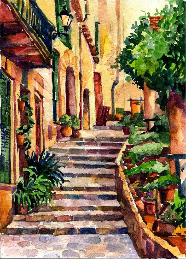 Картина - Испанский дворик