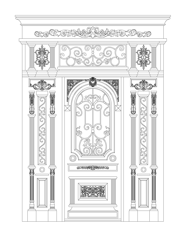 Чертёж - Входная дверь 2