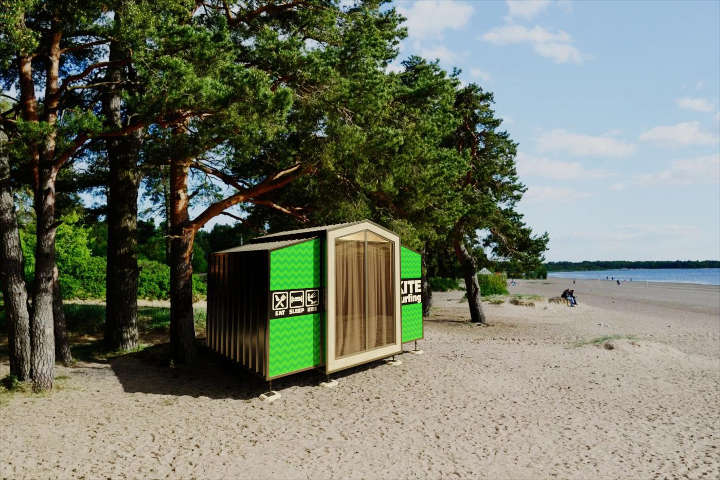 Фотопривязка пляжных домиков