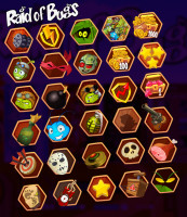 game UI vector elements Raid of Bugs