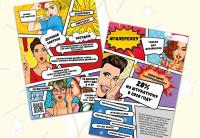 листовка комикс
