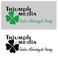 Разработка логотипа  TRIUMPH MEDIA с изображением клевера фото f_5072dd0ac0248.jpg