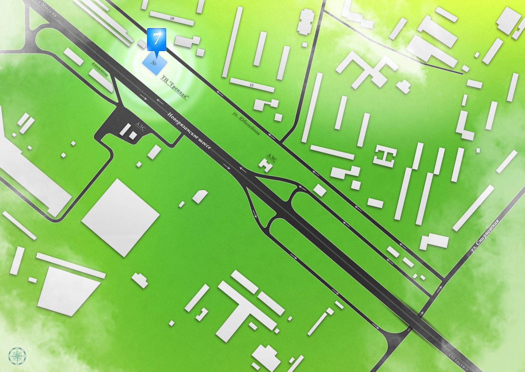 Схема проезда - Сантермика