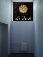 Дизайн брендирования жалюзи для Ресторана De Marko