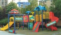 Визуализация брендирования детской площадки для PAMPERS (вариант-2)