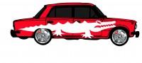 "Дизайн кузовного тюнинга ВАЗ-21013 ""Жигули"" для Ермолина Ю.Н. (вариант-33)"