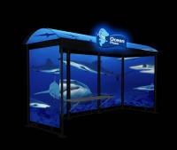 """Дизайн брендирования остановки для ТРЦ """"Ocean Plaza"""" (ночь)"""