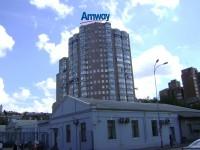 Дизайн накрышной рекламной конструкции для Amway