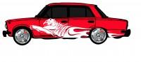 "Дизайн кузовного тюнинга ВАЗ-21013 ""Жигули"" для Ермолина Ю.Н. (вариант-5)"