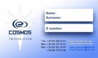 """Дизайн наклейки на паспорт для Турагентства """"Космос Тревел Стар"""" (сторона-1)"""