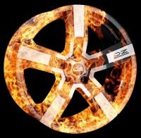 Тюнинг - аэрография автомобильных дисков O.Z racing FIRE stile
