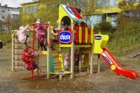 Визуализация брендирования детской площадки для chicco