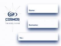 """Дизайн наклейки на паспорт для Турагентства """"Космос Тревел Стар"""" (сторона-2)"""