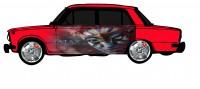 "Дизайн кузовного тюнинга ВАЗ-21013 ""Жигули"" для Ермолина Ю.Н. (вариант-43)"