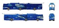 """Дизайн брендирования троллейбуса для ТРЦ """"Ocean Plaza"""""""