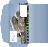 """Дизайн евро-конверта для Турагентства """"Космос Тревел Стар"""" (вариант-4)"""