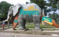 Визуализация брендирования детской площадки для PAMPERS