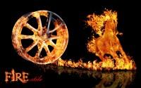 Тюнинг - аэрография автомобильных дисков FIRE stile