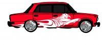 "Дизайн кузовного тюнинга ВАЗ-21013 ""Жигули"" для Ермолина Ю.Н. (вариант-6)"