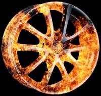 Тюнинг - аэрография автомобильных дисков BORBET FIRE stile