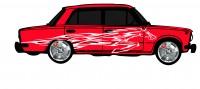 "Дизайн кузовного тюнинга ВАЗ-21013 ""Жигули"" для Ермолина Ю.Н. (вариант-18)"