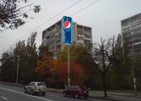 Дизайн настенной 3D рекламной конструкции для PEPSI
