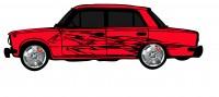 "Дизайн кузовного тюнинга ВАЗ-21013 ""Жигули"" для Ермолина Ю.Н. (вариант-14)"