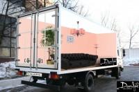 Дизайн 3D брендирования грузового Hyundai HD 120 для Дома мебели Davidos