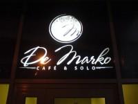 Идея, дизайн, изготовление и монтаж лайтбокса для Ресторана De Marko