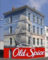 Дизайн 3D настенной графической рекламы для Old Spice