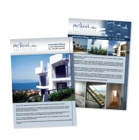 Листовка по продаже вилл в Греции Melissi