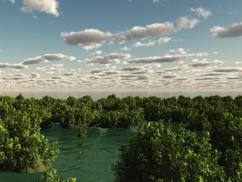 Островки в море