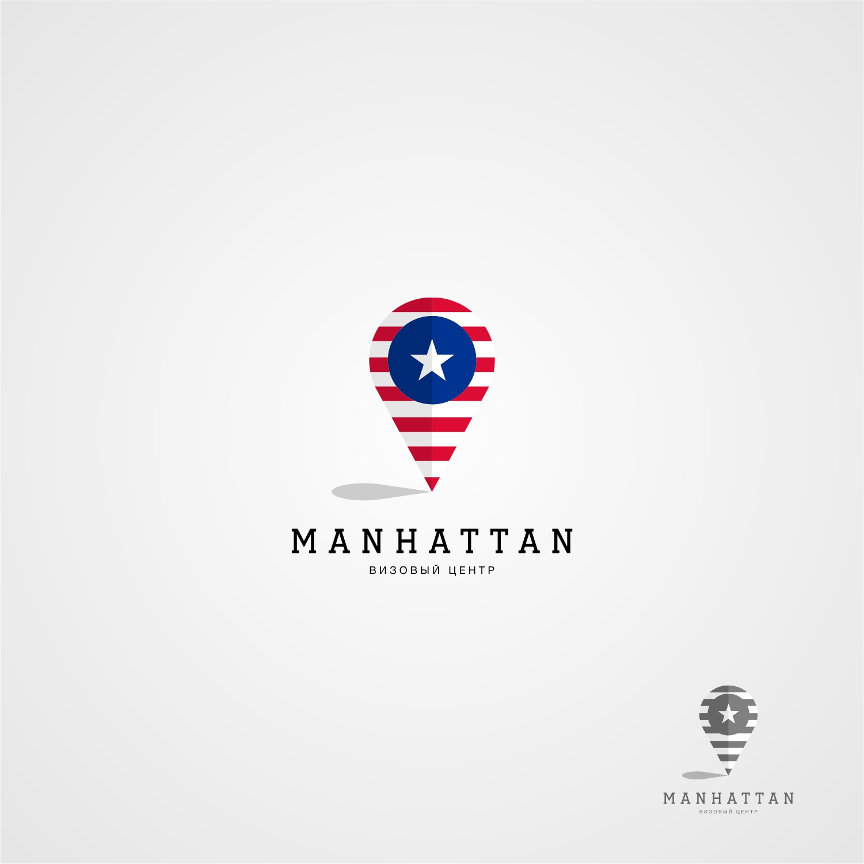 Концепция логотипа визового цнтра MANHATTON