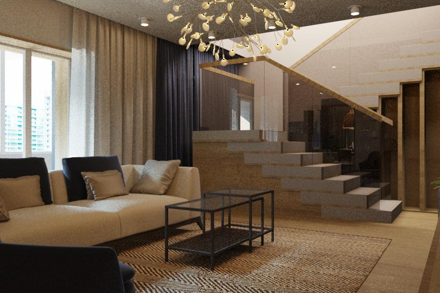 Дизайн проект интерьера первого уровня квартиры 69,9 м.кв. фото f_2065a85e6780b650.jpg