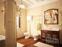 Ванная комната. Дом в стиле прованс