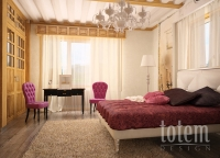 Домик под Красногорском, спальня 1