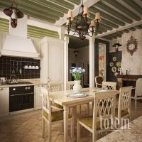 Кухня-столовая по мотивам стиля прованс