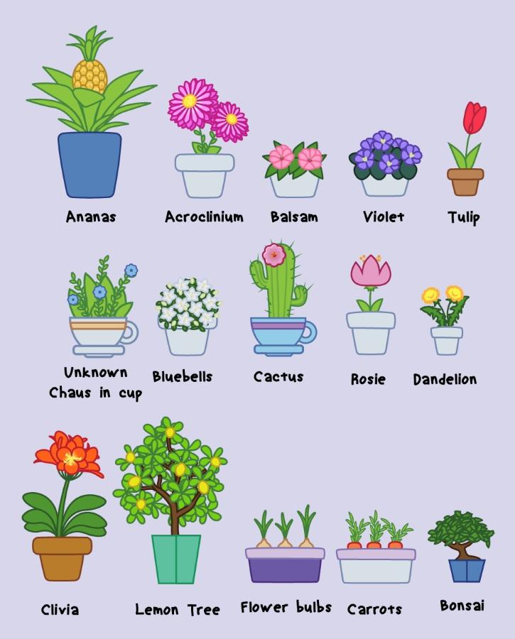 Векторный набор цветов