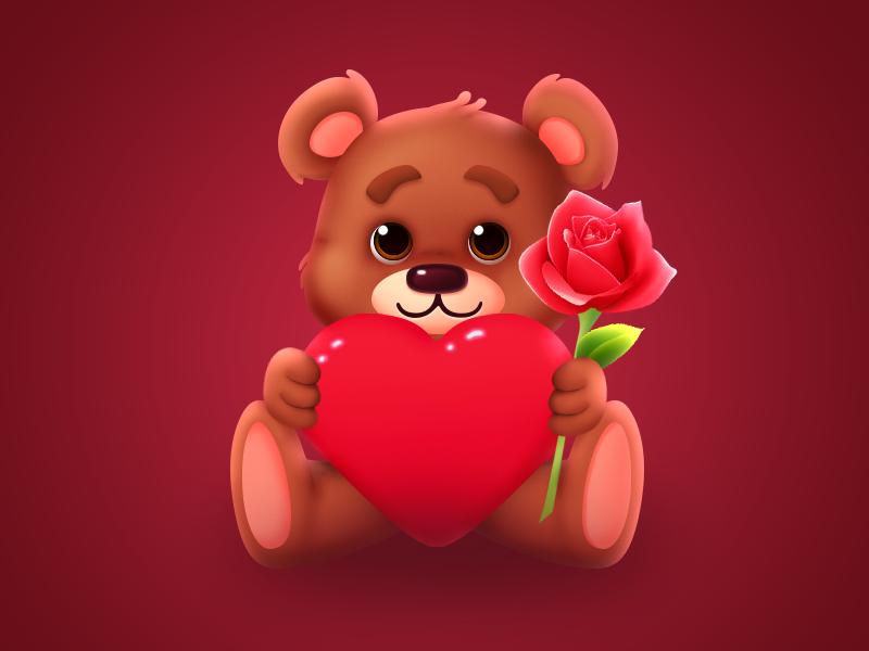 Романтический мишка - Подарок для Ок.ру