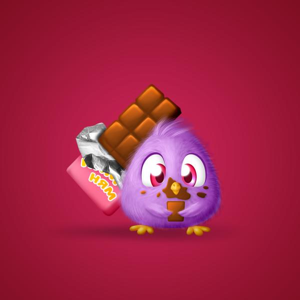 Птичка с шоколадкой - Подарок для Ок.ру