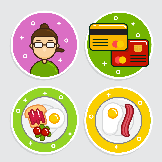 Векторные иконки в плоском стиле (Flat-Style) (Illustrator)