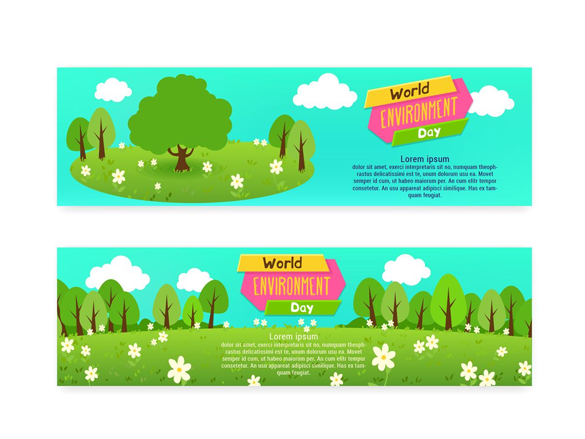 Баннеры к всемирному дню окружающей среды - 01