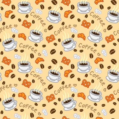 Coffee Pattern (Illustrator)