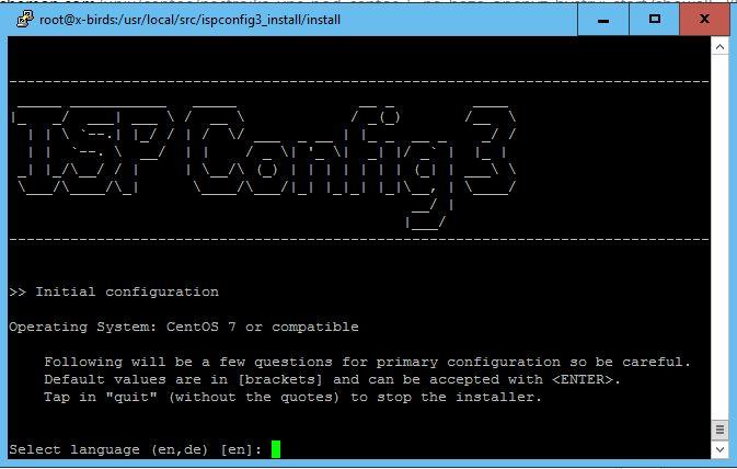 Настройка сервера, установка и настройка ispconfig
