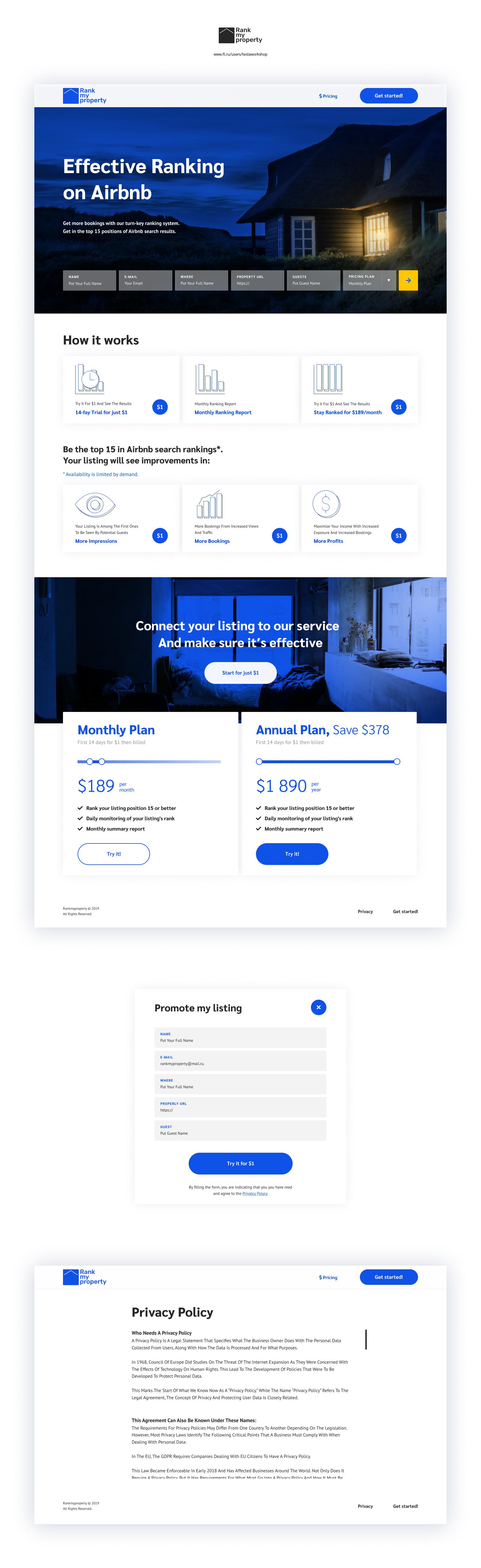 Дизайн сайта - Букинг